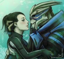 Shepard and Garrus by Silberfeder