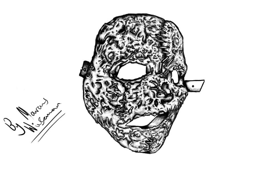 how to draw slipknot masks