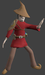 mage work in progress, rigged