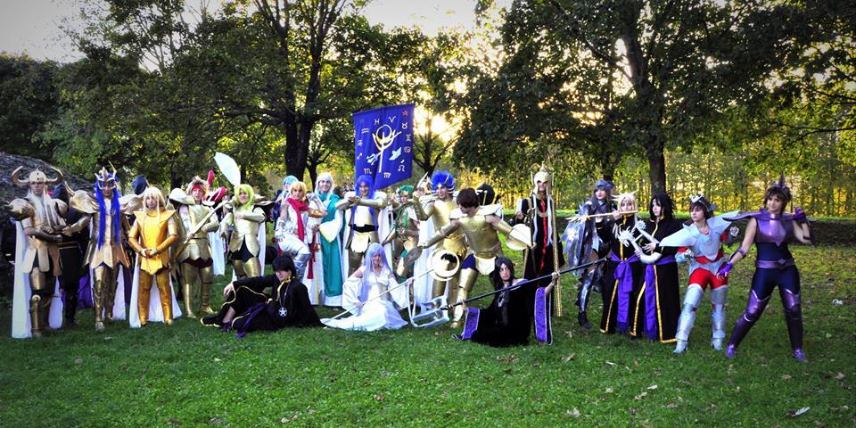 Saint Seiya Lost Canvas cosplay group by Haldael
