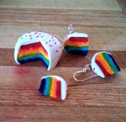 Rainbow Cake by BatCup