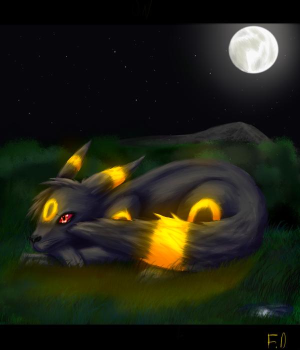 Umbreon at night