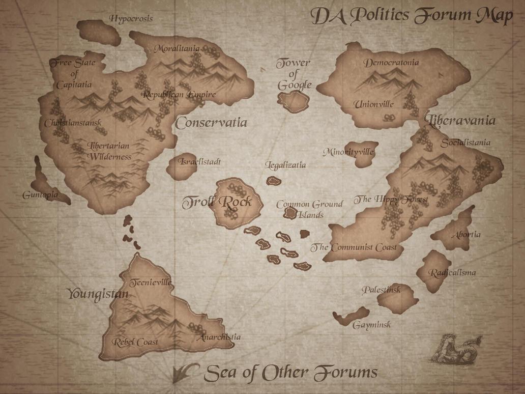 DA Politics Forum Map by Poopgoblyn