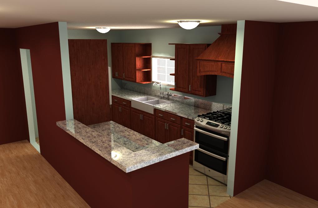 Interior Kitchen Design 01 by Poopgoblyn