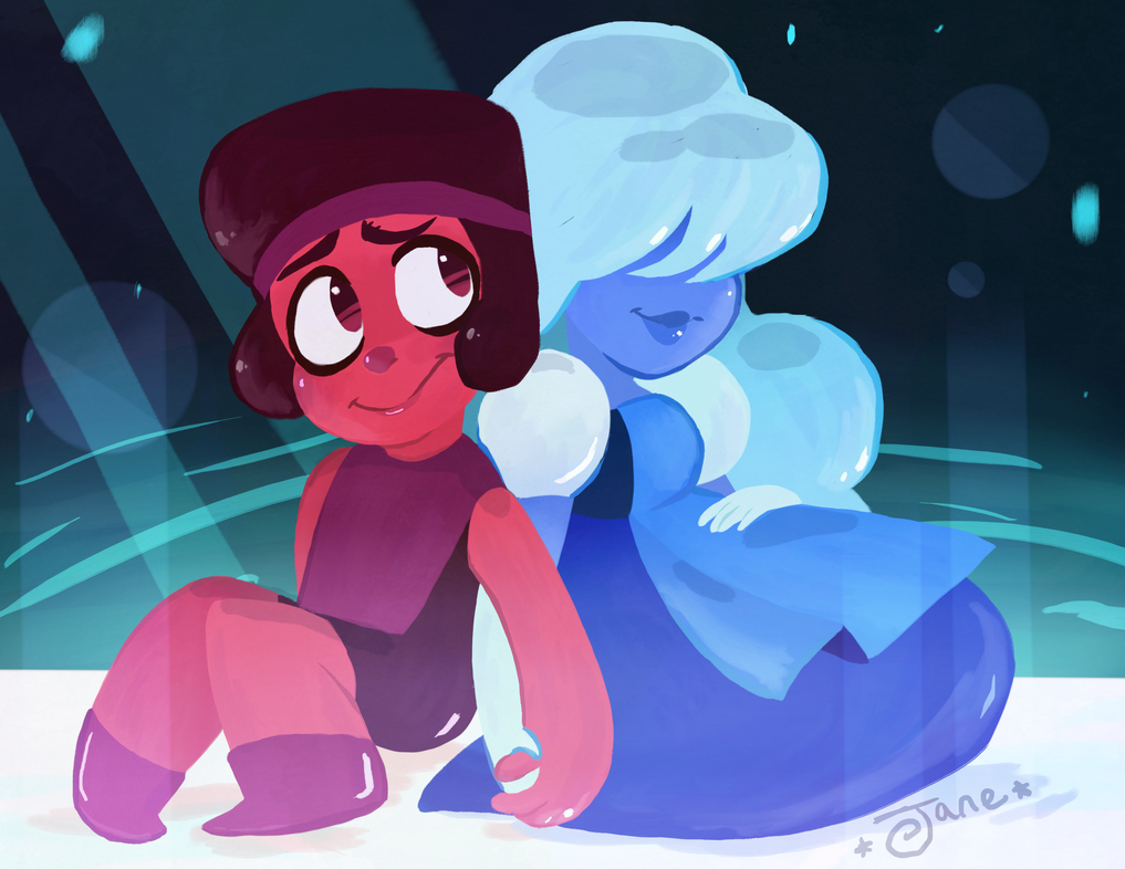 Ruby and Sapphire (With Speed Paint!)