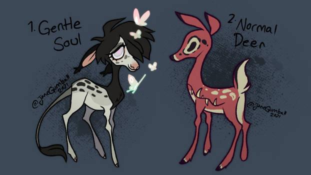 Deer-ish adoptables CLOSED