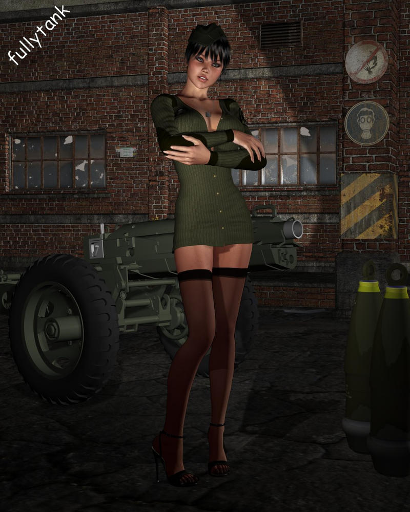Military girl - redone by fullytank