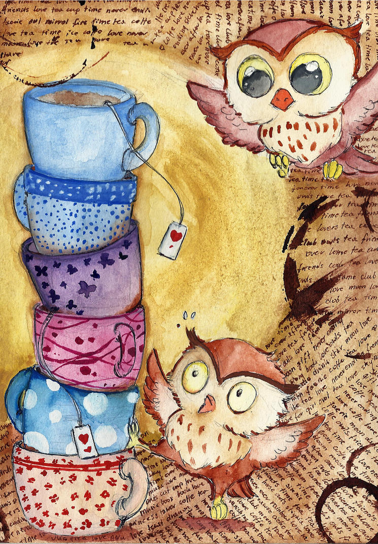 Owl cups by Xanarachne