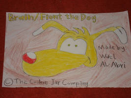 A drawing for Brain the dog by Wael-sa