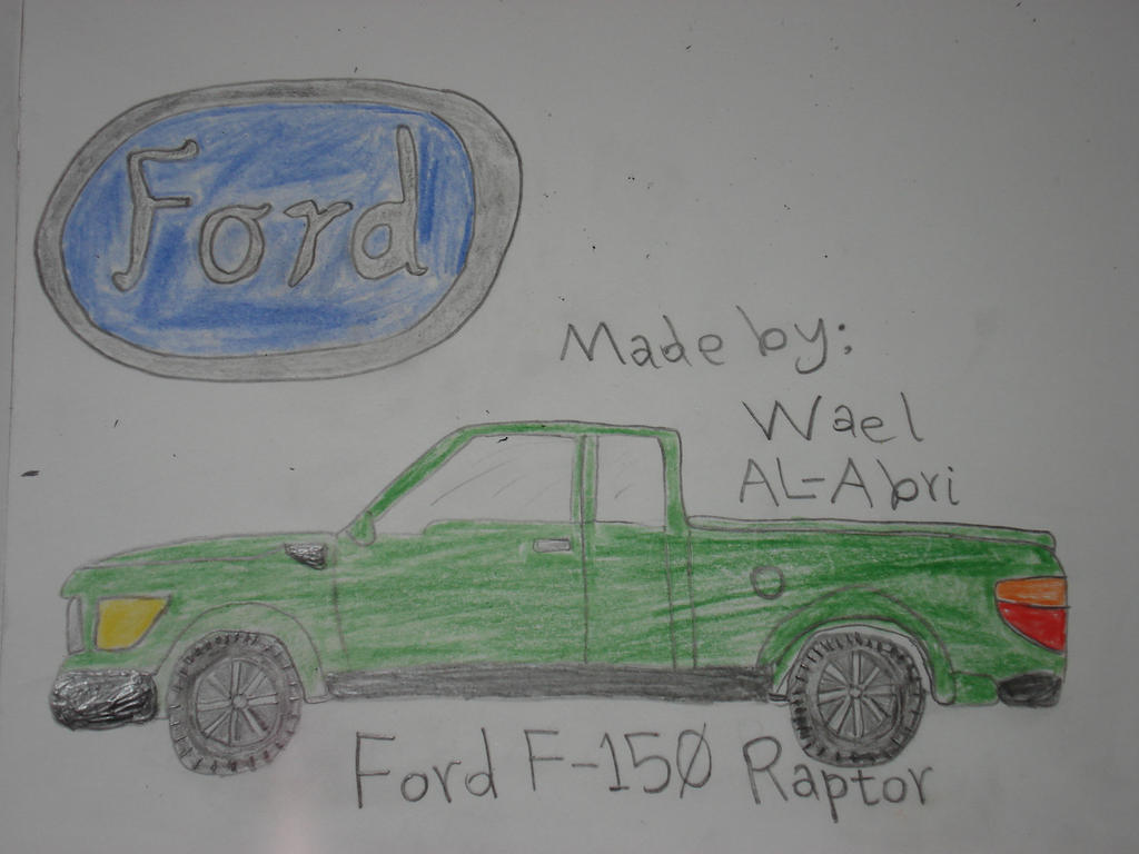 A drawing for Ford F-150 Raptor by Wael-sa on DeviantArt