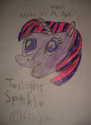 A drawing for Twilight Sparkle by Wael-sa