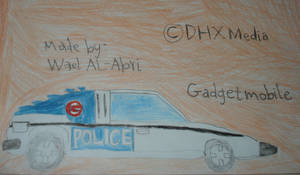 A drawing for the Gadgetmobile by Wael-sa