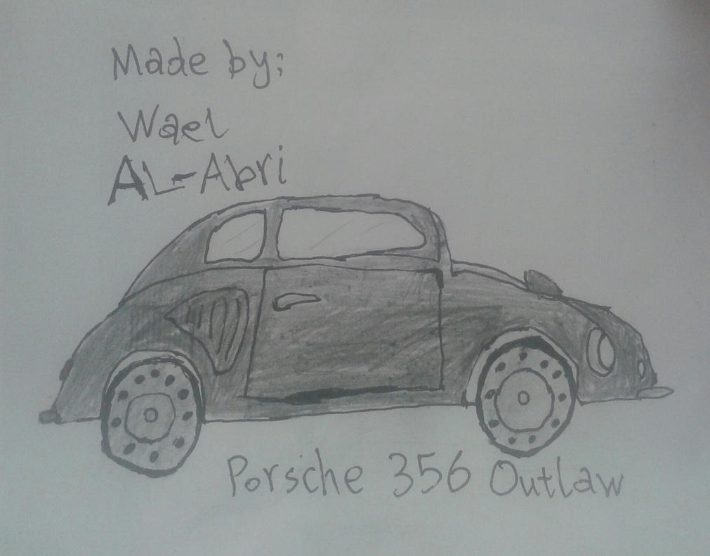 A drawing for Porsche 356 Outlaw by Wael-sa