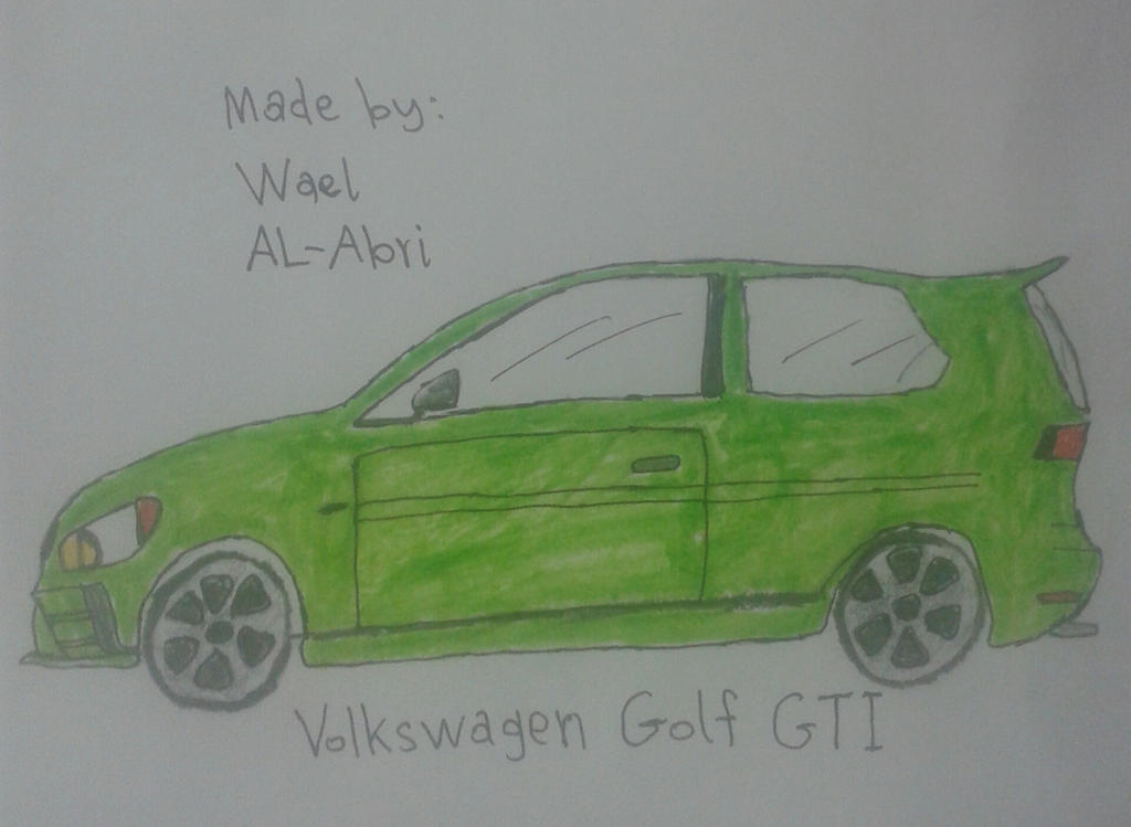 A drawing for Volkswagen Golf GTI by Wael-sa