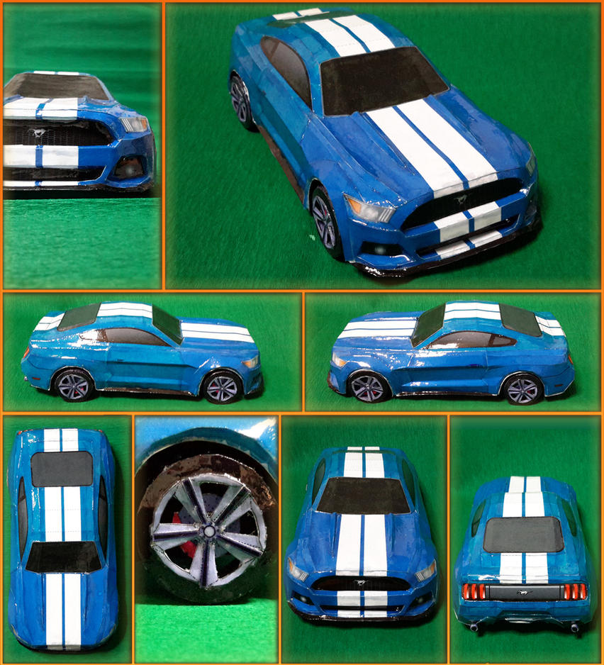 Ford Mustang Papercraft Car Templates | LZK Gallery
