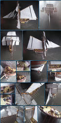 HMS Hunter Papercraft by Mironius