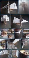 HMS Hunter Papercraft by Mironius