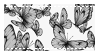 Monochrome Butterflies - Stamp by candlelit-deco