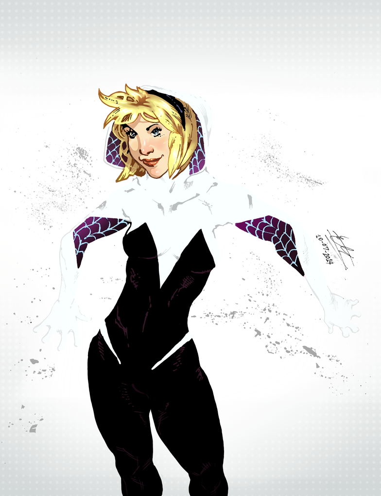 Spider Gwen colored by Atlas0