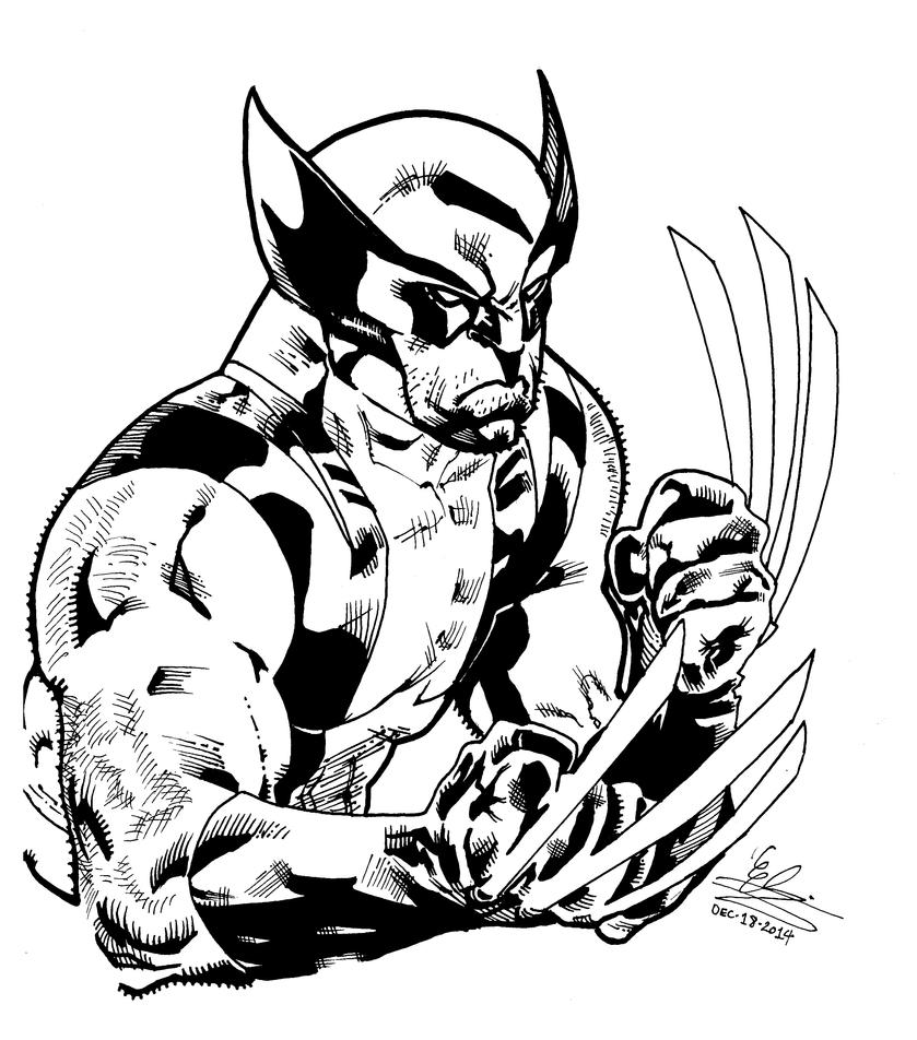 Wolverine inks by Atlas0