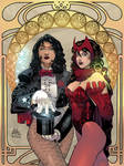 Scarlet Witch and Zatanna colors