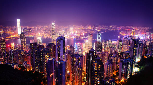 Hong Kong and Kowloon from Victoria Peak