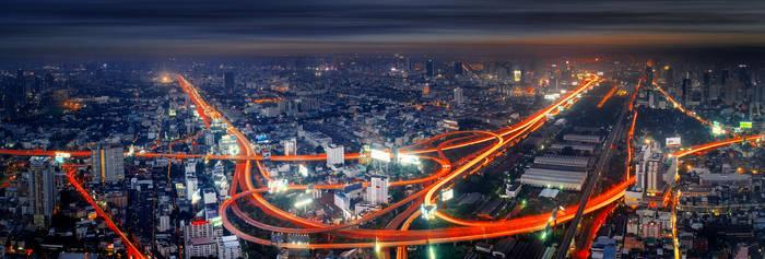 The City of Bangkok by palmbook
