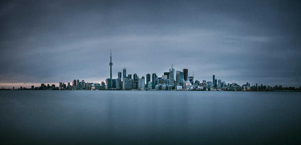 Toronto from Wards Island by palmbook