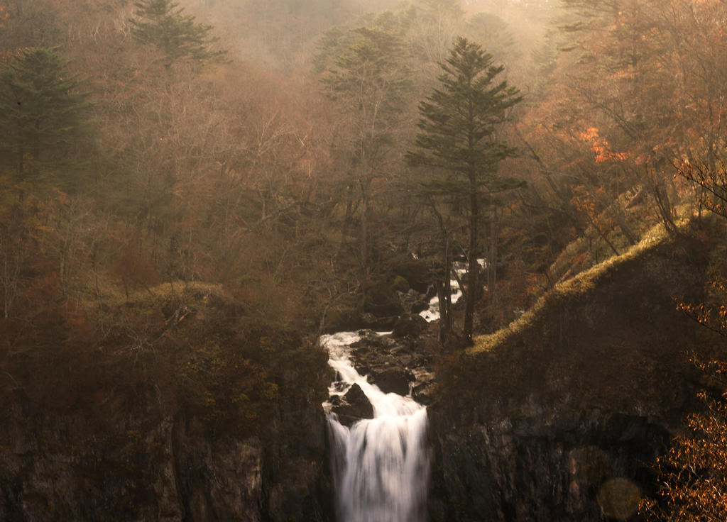 Kegon Falls in a Misty Afternoon by palmbook