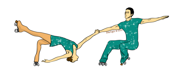 Roller Skating Pair