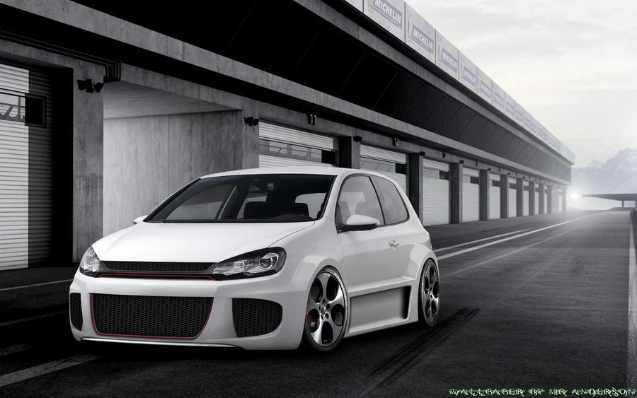 Volkswagen Golf Gti White Tuned Volkswagen Golf vi Gti