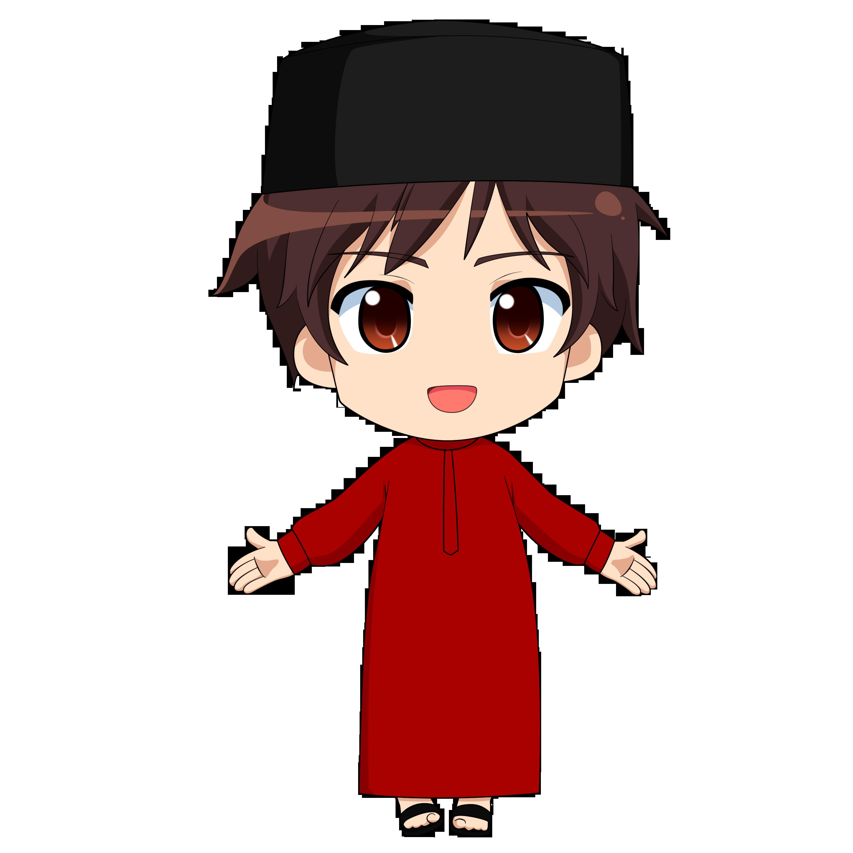 chibi_muslimin_1_by_taj92d8fuxe6.png (2894×2894) Kartun