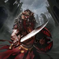 Haradrim Warrior by Smirtouille