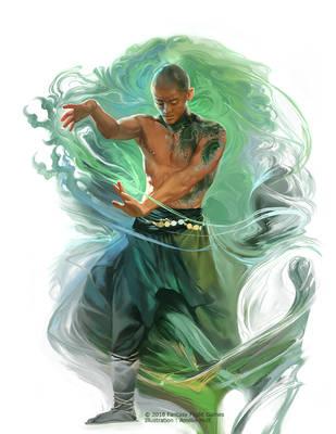 Dragon Monk by Smirtouille