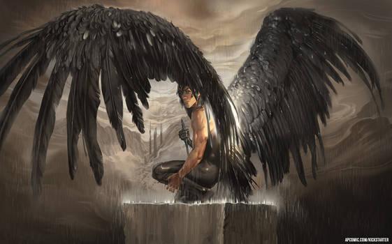 Fallen Angel in the Rain