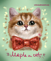 Maple the cat =^..^= by 1NFIN1TY