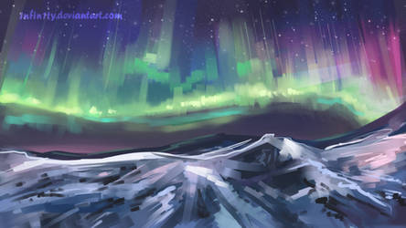 Nothern lights (quick study) by 1NFIN1TY