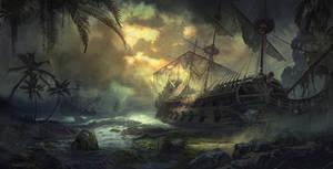Graveyard of ships by SergeyZabelin