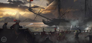 Capture of the ship. Tightrope Games by SergeyZabelin