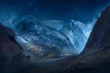 Valley Night by SergeyZabelin