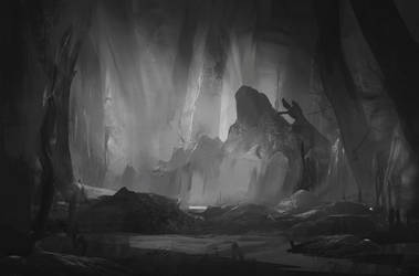 Mysterious Forest Sketch by SergeyZabelin