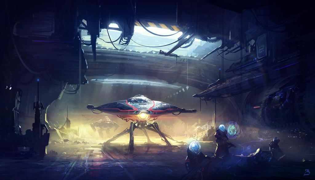 Sci-Fi. Researchers by SergeyZabelin