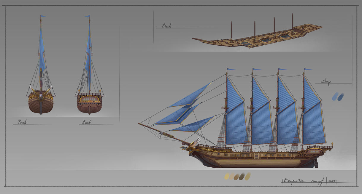 Barquentine. Concept Ship. by SergeyZabelin
