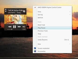 Context Menu Music Control by rahul-k-mak