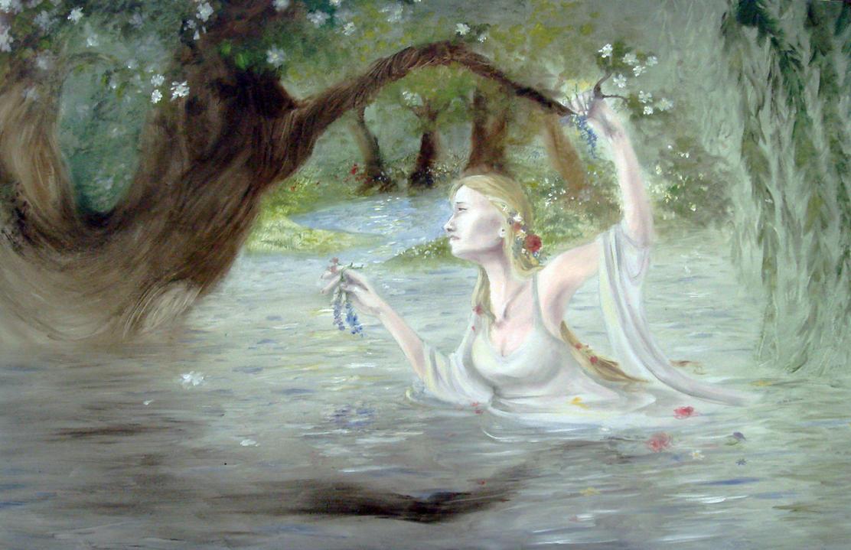 Ophelia Drowning by Reine-HaruDrowned Ophelia Hamlet
