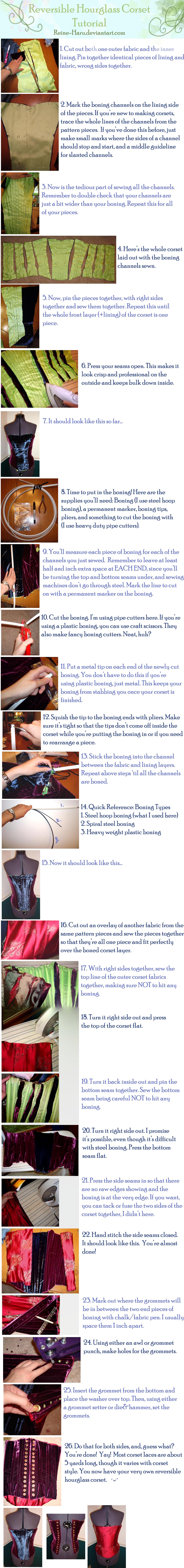Reversible Corset Tutorial