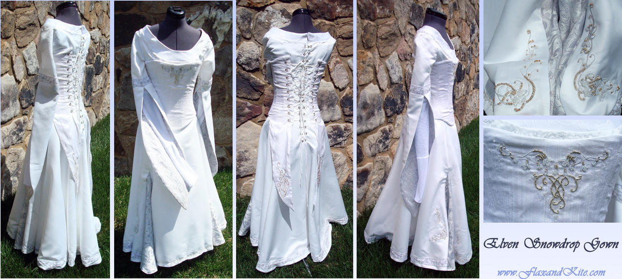 Elven snowdrop gown by reine haru on deviantart for Elven inspired wedding dresses