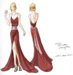 Crimson Gown Design