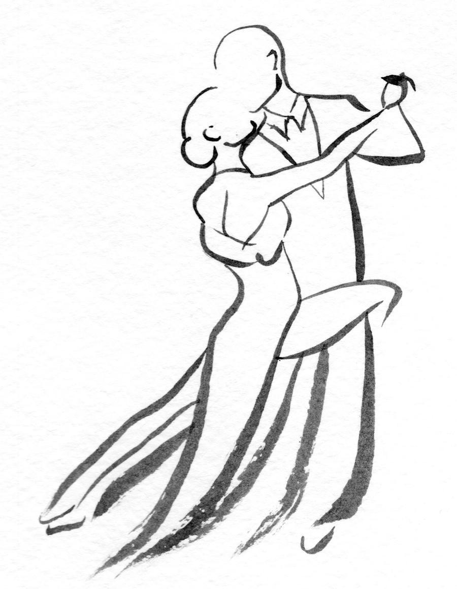 Картинки, бальные танцы картинки карандашом
