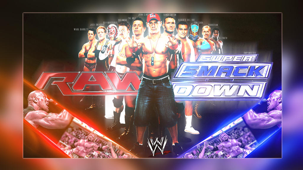 raw and smackdown wallpaper by cmpunkster on deviantart